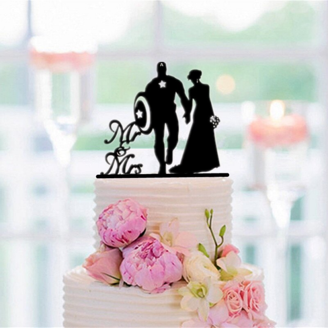 Lw2 Mixed Funny Wedding Cake Topper